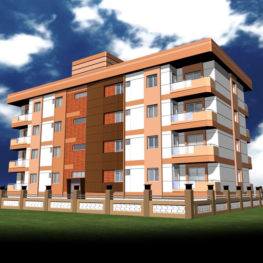 Edificio de la casa de la ciudad 6 royalty-free modelo 3d - Preview no. 17