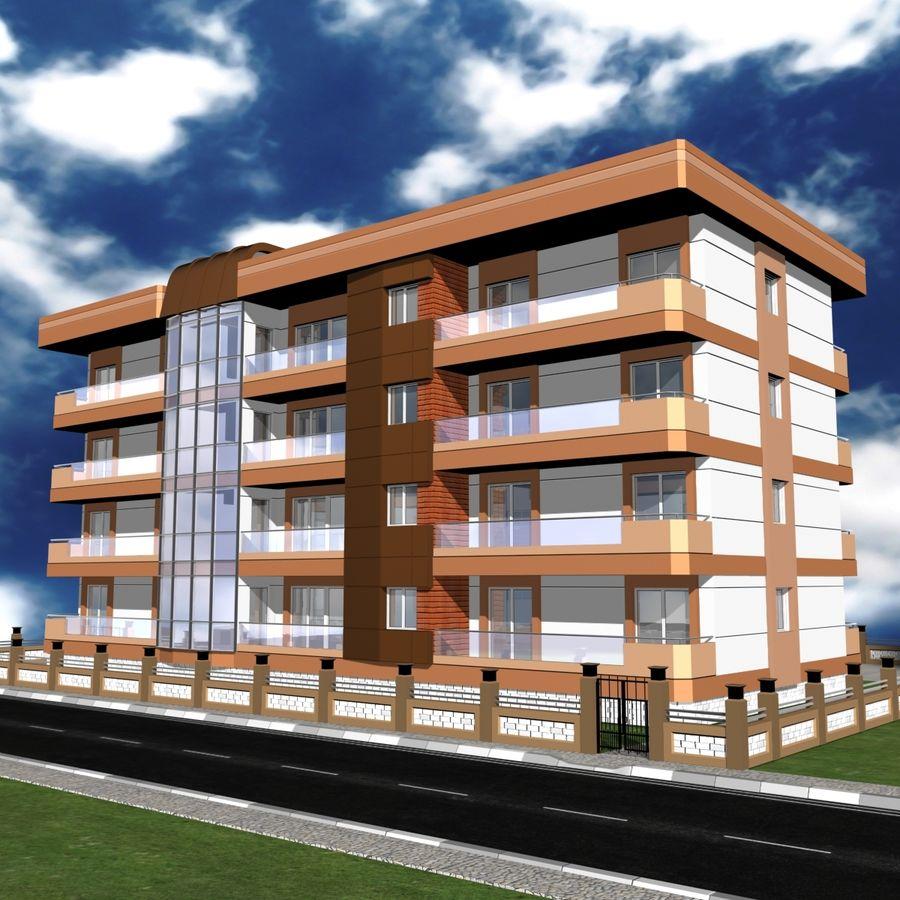Edificio de la casa de la ciudad 6 royalty-free modelo 3d - Preview no. 14