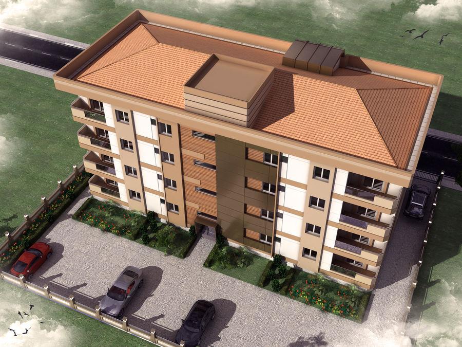 Edificio de la casa de la ciudad 6 royalty-free modelo 3d - Preview no. 5