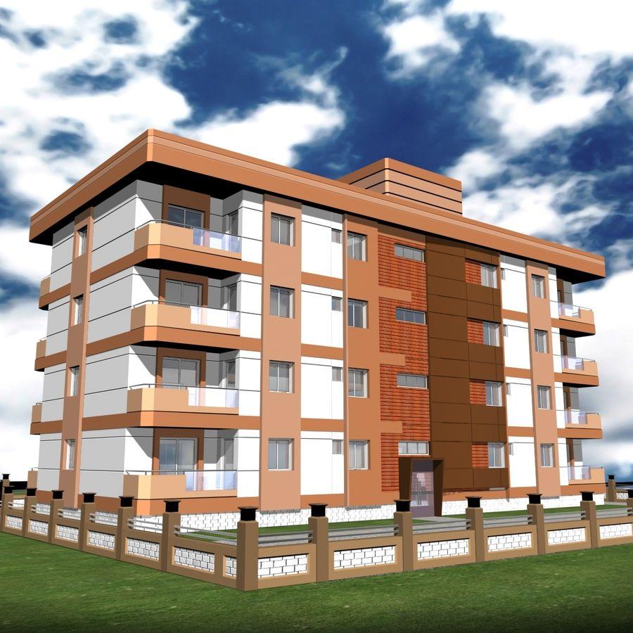 Edificio de la casa de la ciudad 6 royalty-free modelo 3d - Preview no. 15