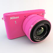 Nikon 1 J2 HD Digital kamera rosa 3d model