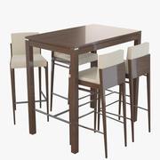 Alvito bord och barstolar 3d model