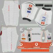 Motorista de Corrida Roupas 2 Mercedes 3d model
