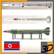 North korea missiles 3d model