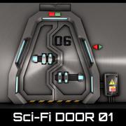 Sci-Fi_DOOR_01 3d model