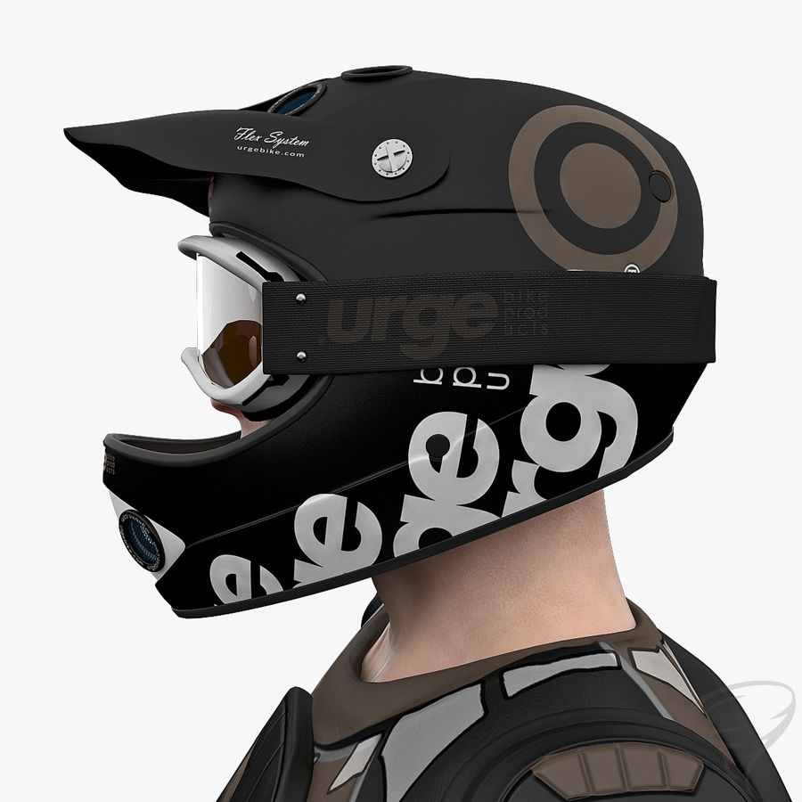Mountainbiker royalty-free 3d model - Preview no. 14