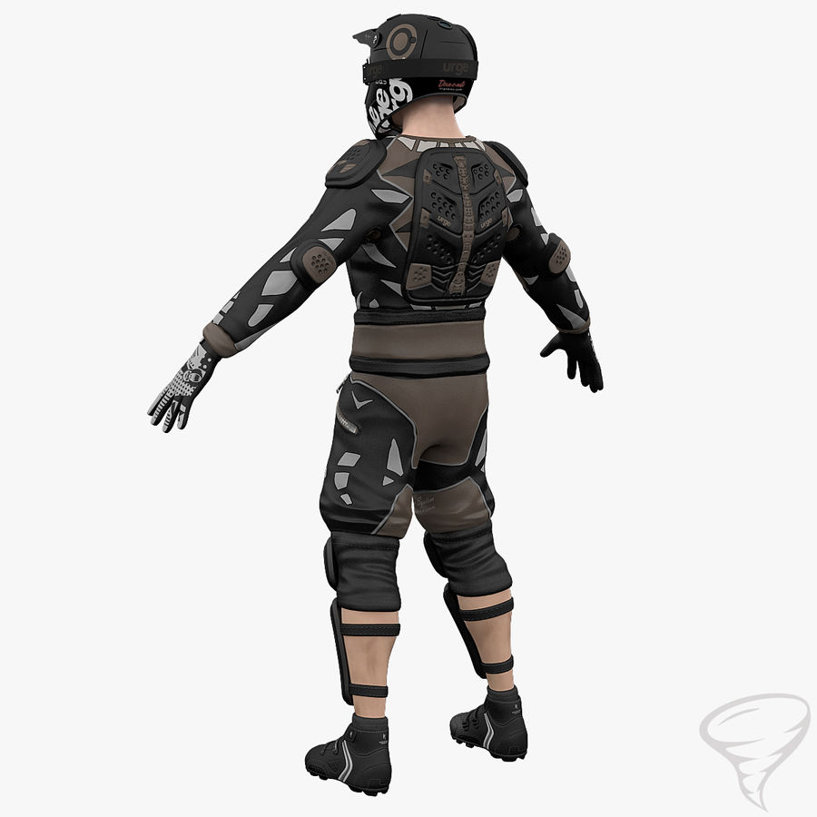 Mountainbiker royalty-free 3d model - Preview no. 10