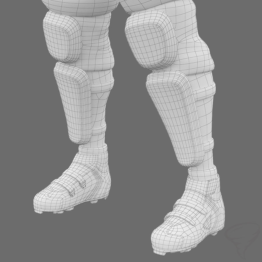 Mountainbiker royalty-free 3d model - Preview no. 33