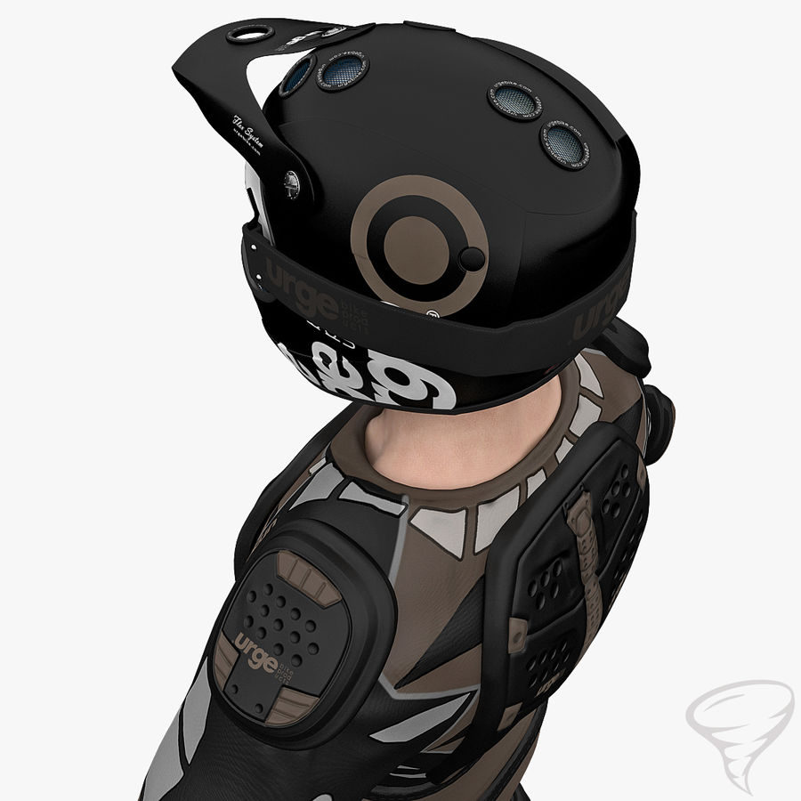 Mountainbiker royalty-free 3d model - Preview no. 19