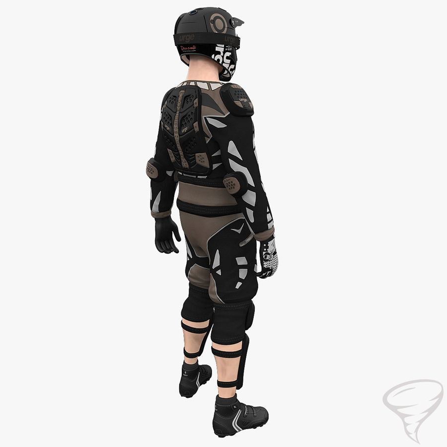 Mountainbiker royalty-free 3d model - Preview no. 9