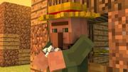 Aldeano aparejo de Minecraft modelo 3d
