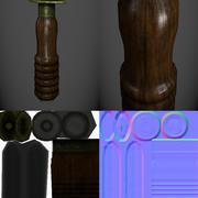 Cuchillo de buzo modelo 3d