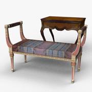 Stol och bord 3d model
