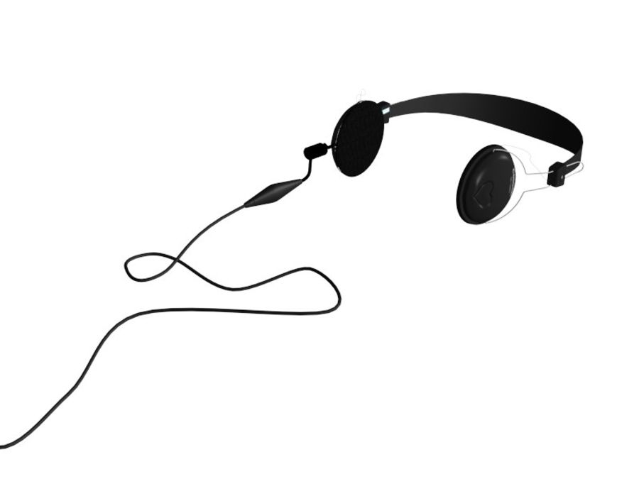HEAD PHONE royalty-free 3d model - Preview no. 3