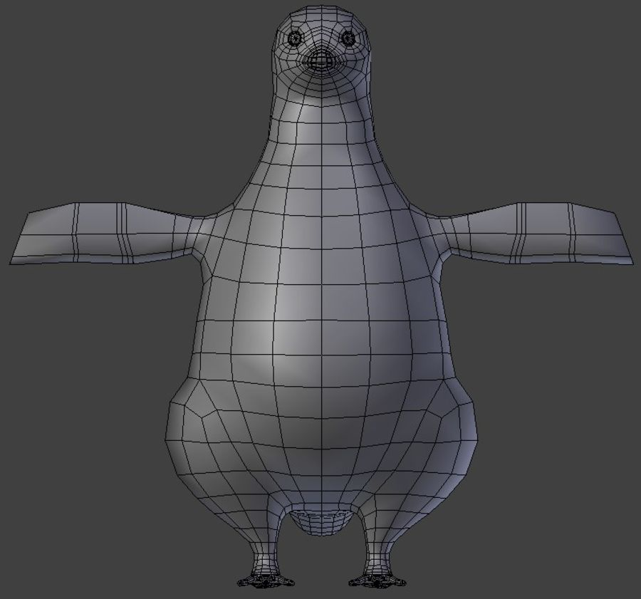 penguin royalty-free 3d model - Preview no. 1