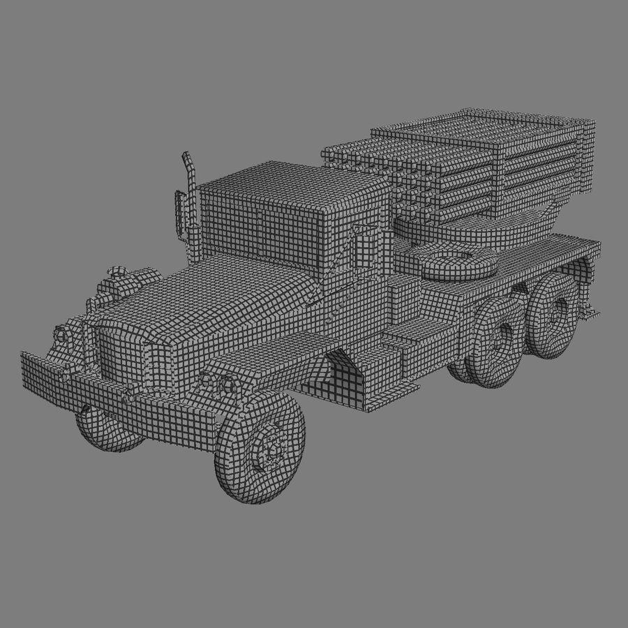 Raketenartillerie royalty-free 3d model - Preview no. 3