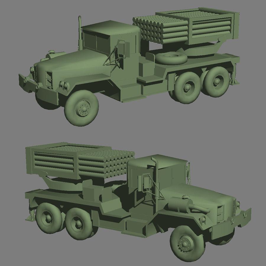 Raketenartillerie royalty-free 3d model - Preview no. 1