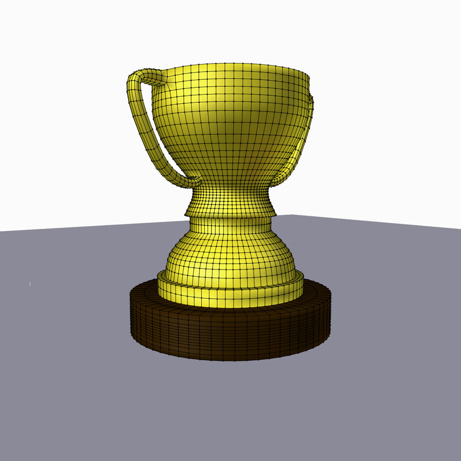 1st Place Trophy royalty-free 3d model - Preview no. 6