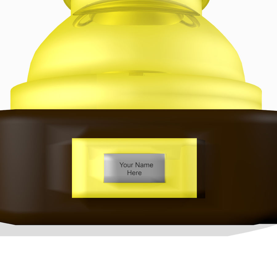 1st Place Trophy royalty-free 3d model - Preview no. 2