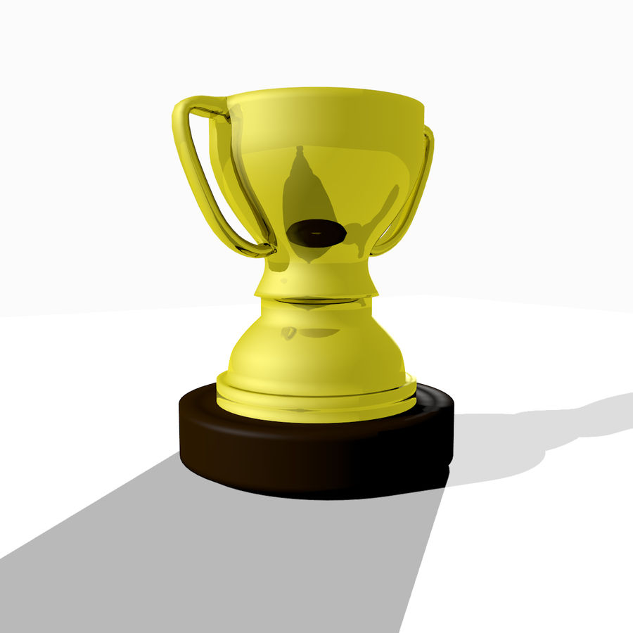 1st Place Trophy royalty-free 3d model - Preview no. 3