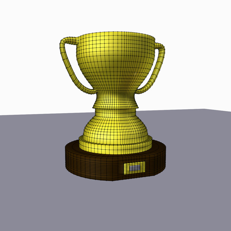 1st Place Trophy royalty-free 3d model - Preview no. 5