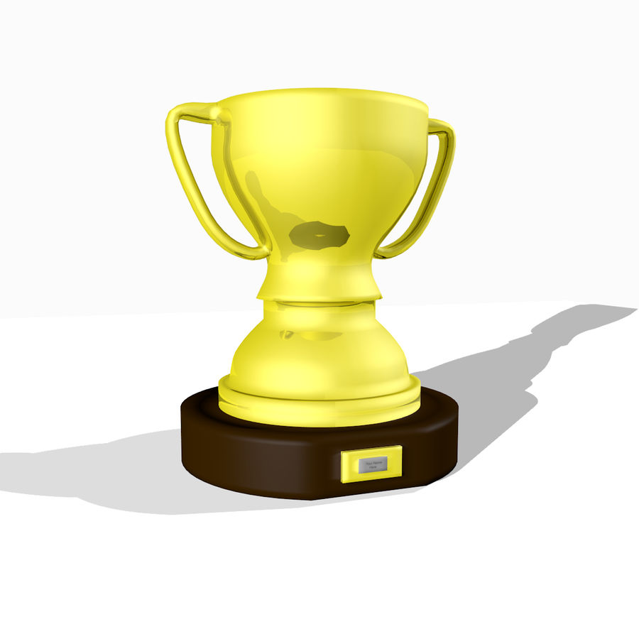 1st Place Trophy royalty-free 3d model - Preview no. 1