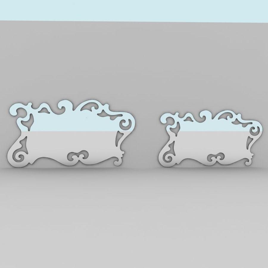 Зеркало Аиды Кантори royalty-free 3d model - Preview no. 2