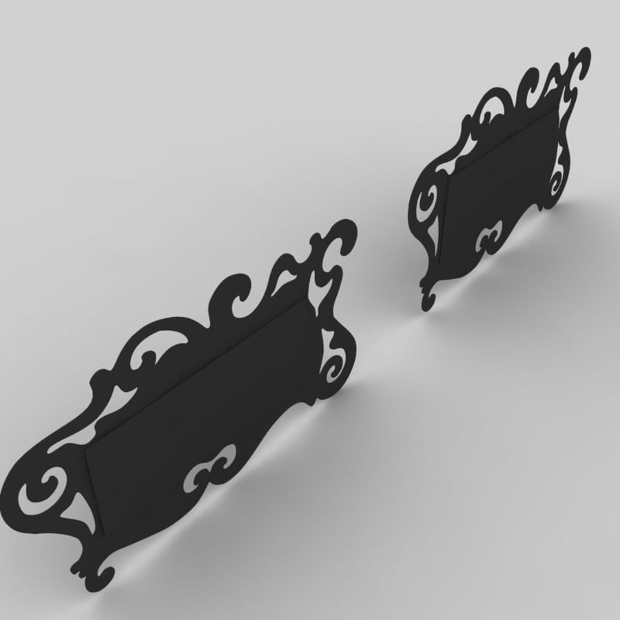 Зеркало Аиды Кантори royalty-free 3d model - Preview no. 5