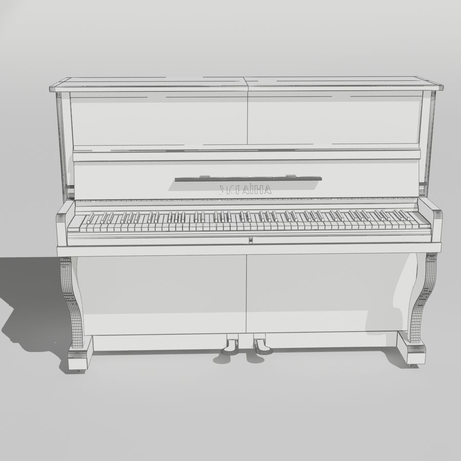 пиано royalty-free 3d model - Preview no. 13