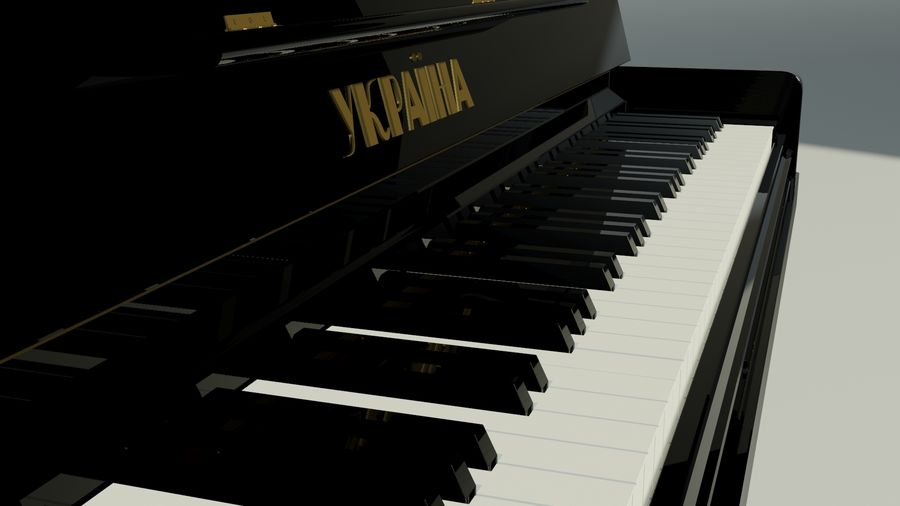 пиано royalty-free 3d model - Preview no. 7