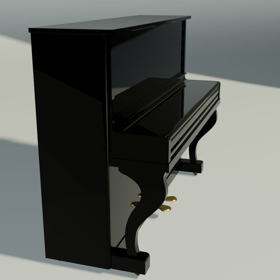 пиано royalty-free 3d model - Preview no. 3