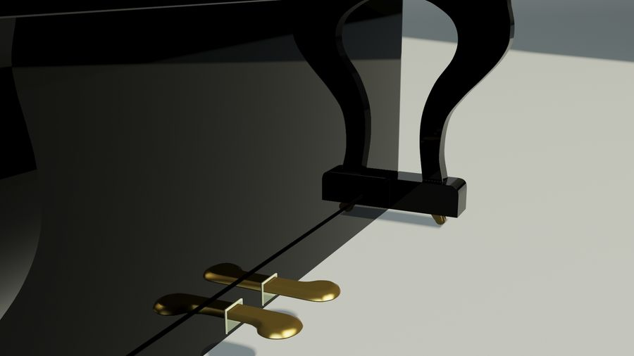 пиано royalty-free 3d model - Preview no. 9