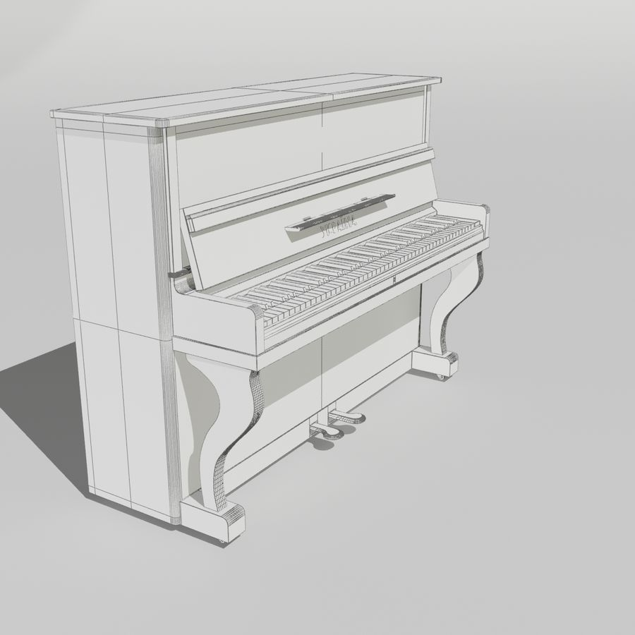 пиано royalty-free 3d model - Preview no. 12