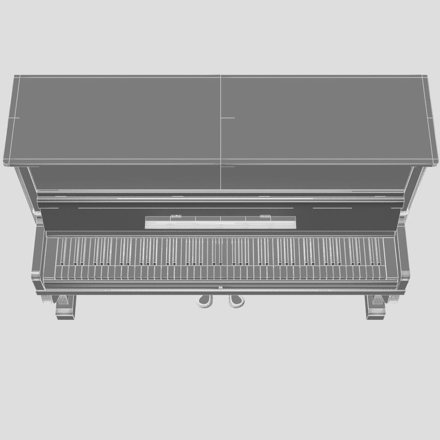 пиано royalty-free 3d model - Preview no. 14