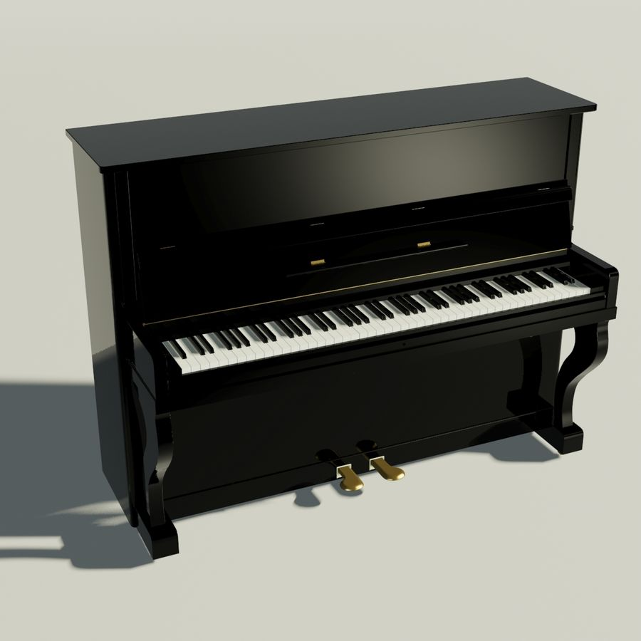 пиано royalty-free 3d model - Preview no. 1