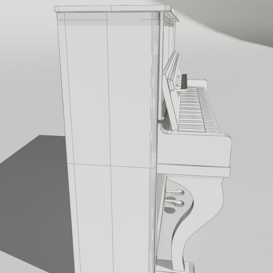 пиано royalty-free 3d model - Preview no. 11