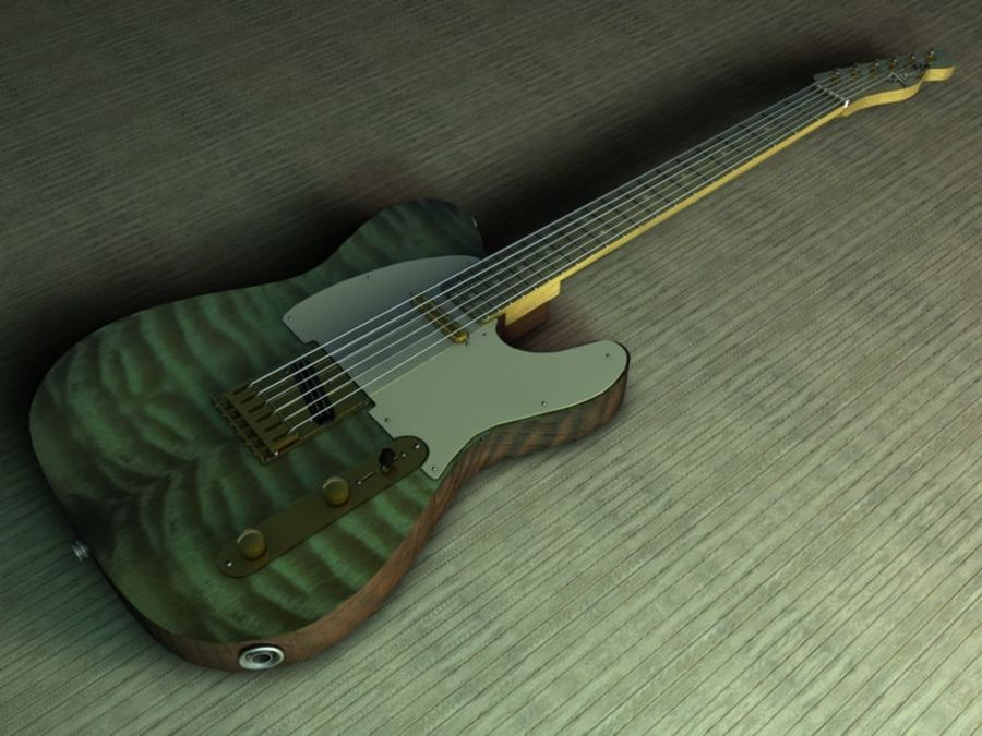 Telecaster royalty-free 3d model - Preview no. 1