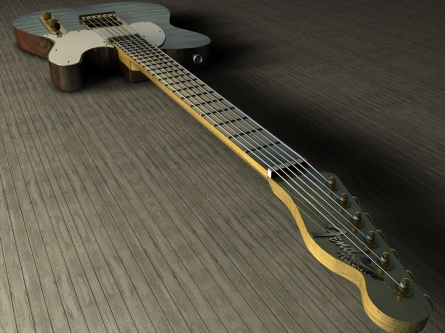 Telecaster royalty-free 3d model - Preview no. 2