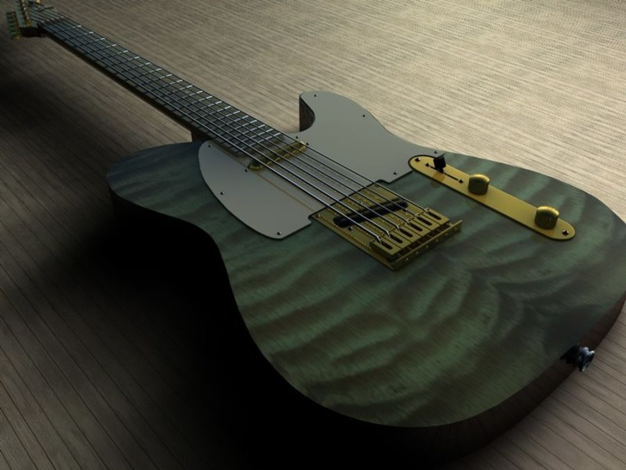 Telecaster royalty-free 3d model - Preview no. 3