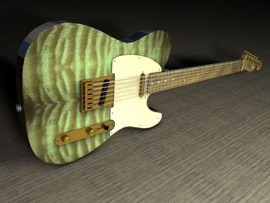 Telecaster royalty-free 3d model - Preview no. 4