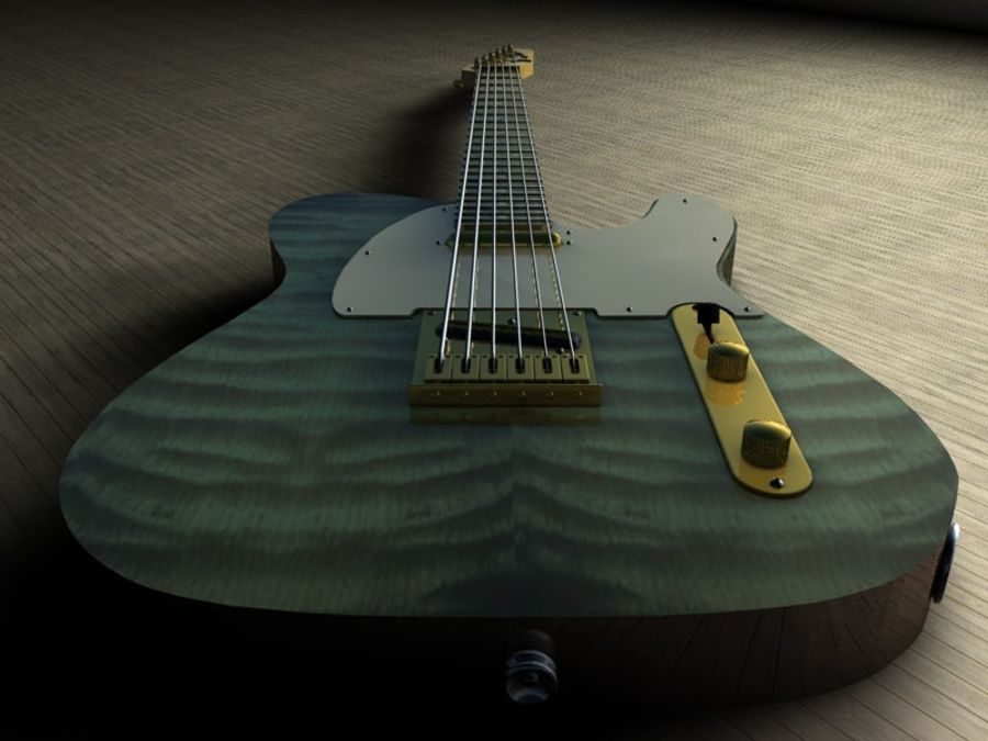 Telecaster royalty-free 3d model - Preview no. 5