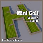 Low Poly Mini Golf Hole C4H15 3d model