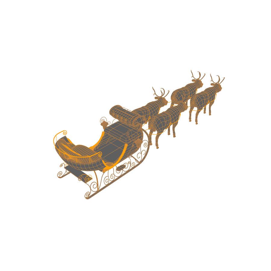 Trineo de navidad santa royalty-free modelo 3d - Preview no. 11