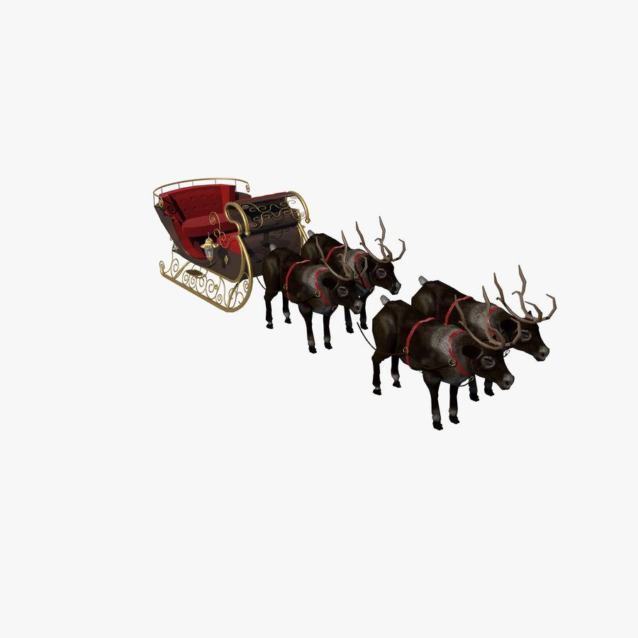 Trineo de navidad santa royalty-free modelo 3d - Preview no. 1