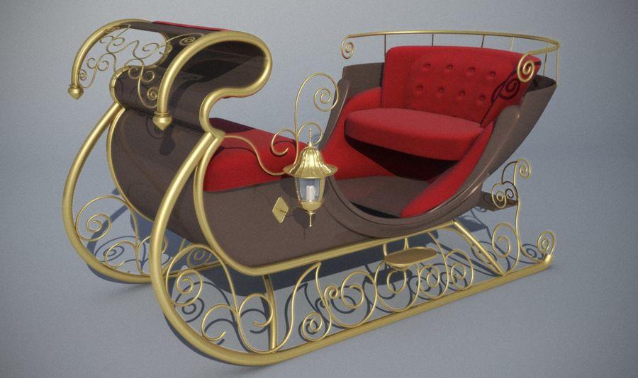 Trineo de navidad santa royalty-free modelo 3d - Preview no. 3