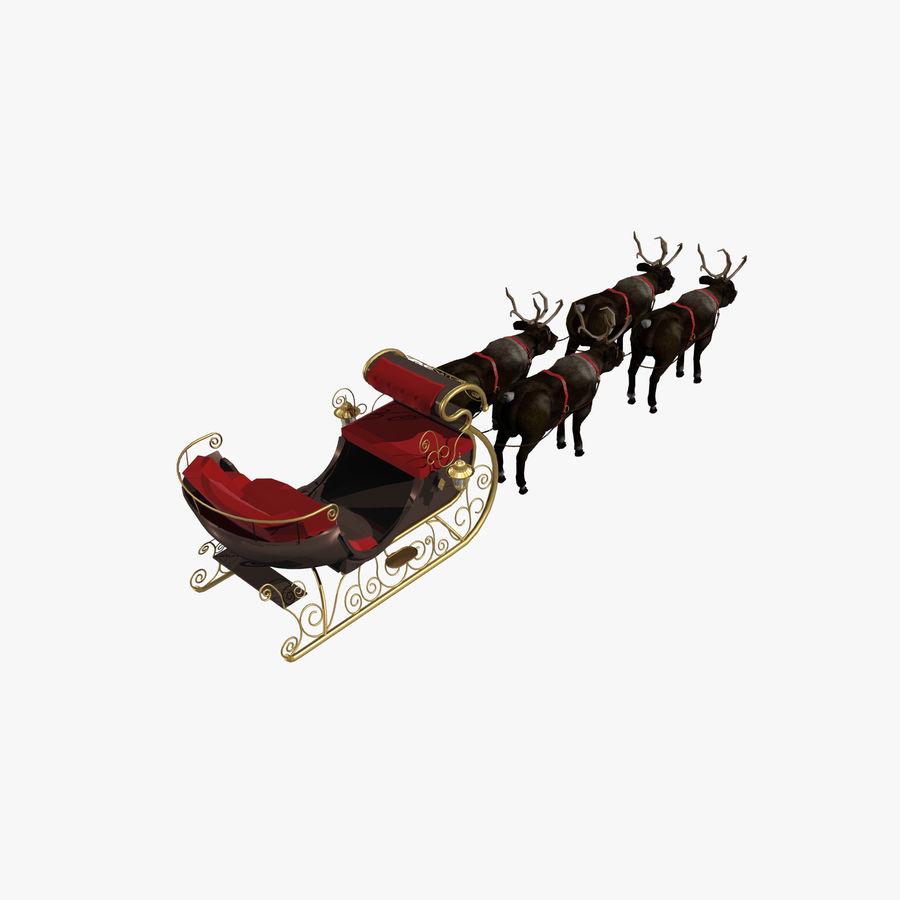 Trineo de navidad santa royalty-free modelo 3d - Preview no. 6