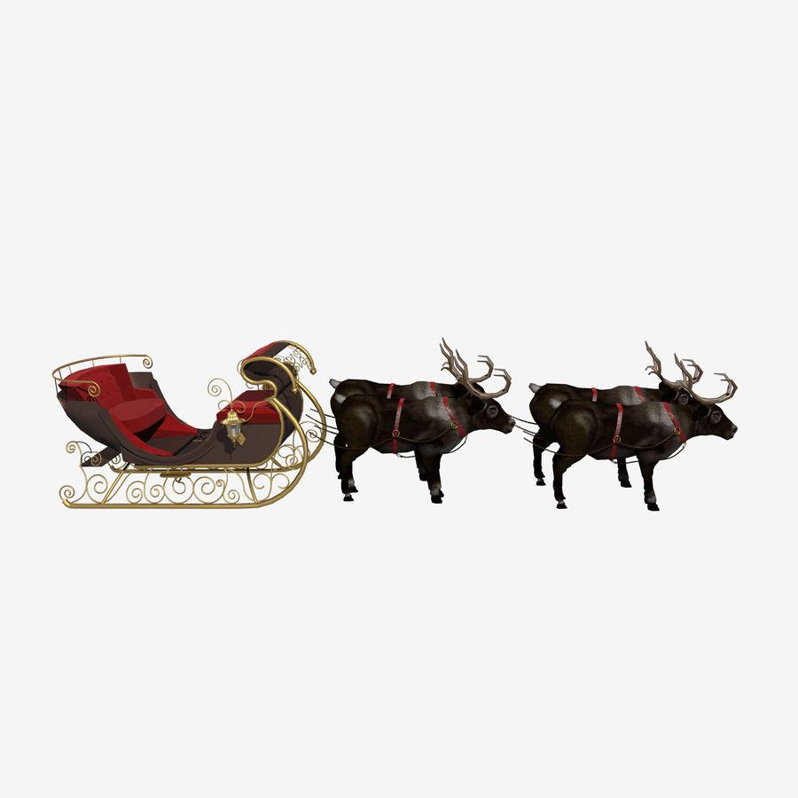 Trineo de navidad santa royalty-free modelo 3d - Preview no. 5