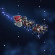 クリスマスサンタのそり 3d model