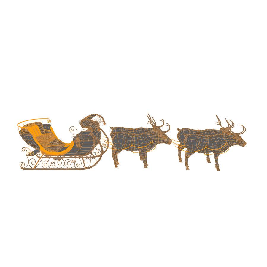 Trineo de navidad santa royalty-free modelo 3d - Preview no. 10