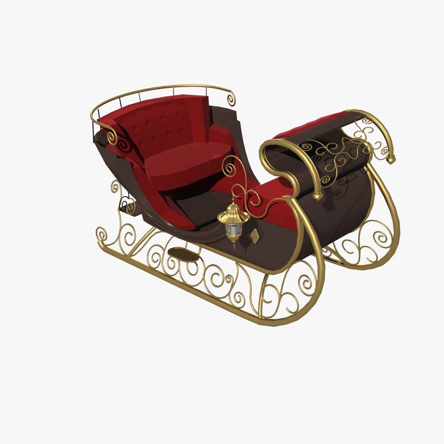 Trineo de navidad santa royalty-free modelo 3d - Preview no. 4
